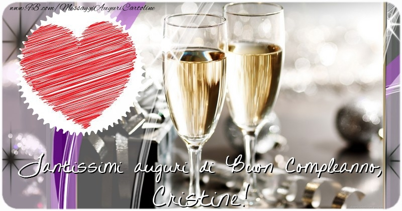 Cartoline di compleanno - Tantissimi auguri di Buon Compleanno, Cristine