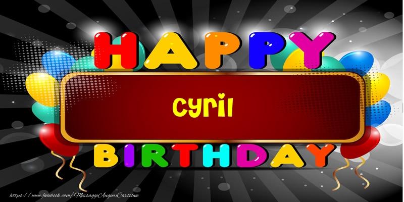 Cartoline di compleanno - Happy Birthday Cyril