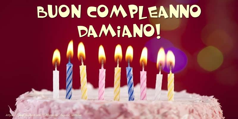 Cartoline di compleanno - Torta - Buon compleanno, Damiano!