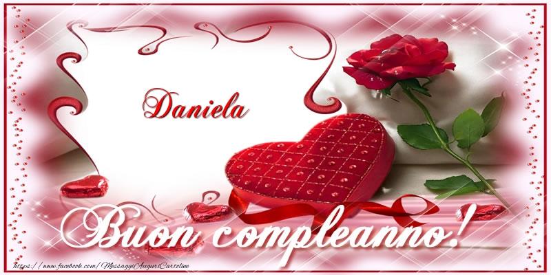 Top Daniela Buon Compleanno Amore! - Cartoline di compleanno per  VQ43