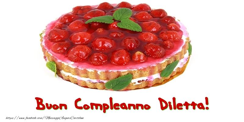 Cartoline di compleanno - Buon Compleanno Diletta!