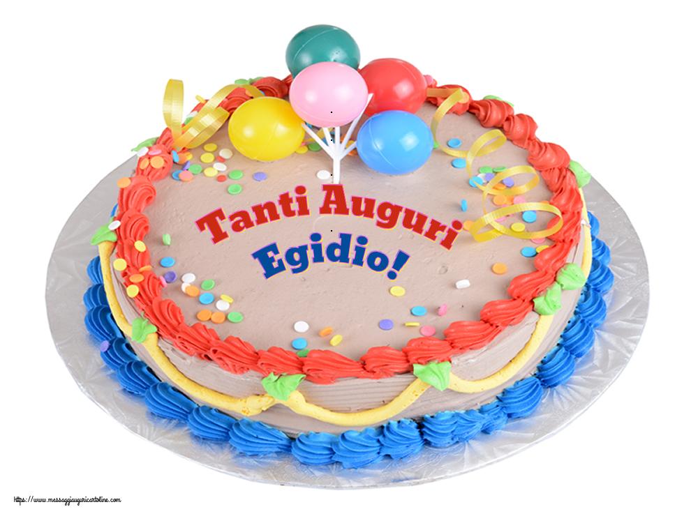 Cartoline di compleanno - Tanti Auguri Egidio!