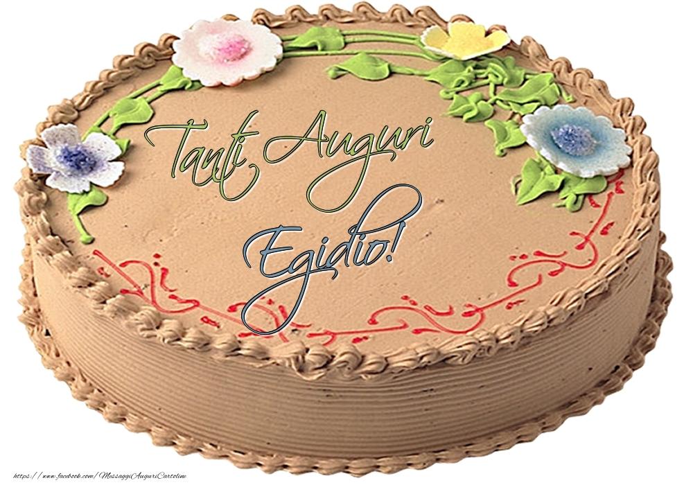 Cartoline di compleanno - Egidio - Tanti Auguri! - Torta