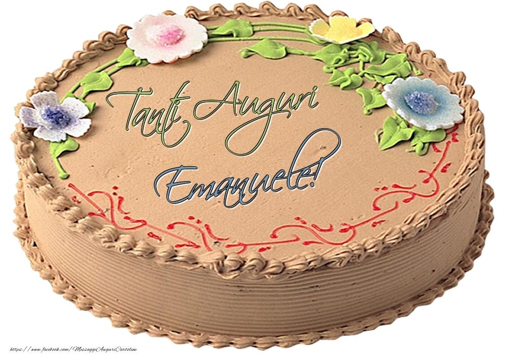 Cartoline di compleanno - Emanuele - Tanti Auguri! - Torta