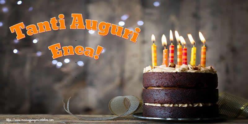 Cartoline di compleanno - Tanti Auguri Enea!