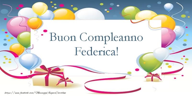 Top Tanti Auguri di Buon compleanno! Federica - Cartoline di  VF89