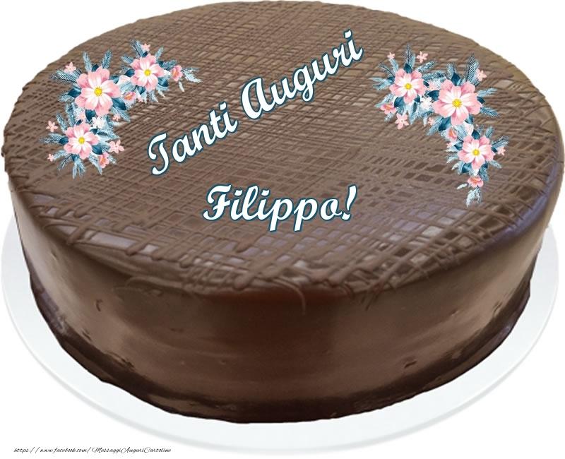 Cartoline di compleanno - Tanti Auguri Filippo! - Torta al cioccolato