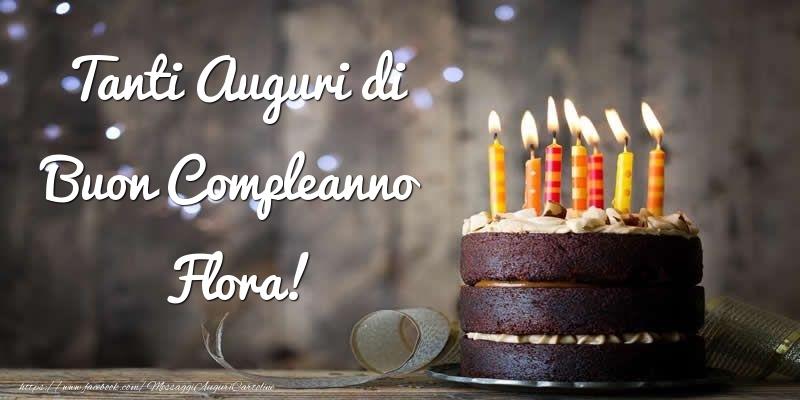 Cartoline di compleanno - Tanti Auguri di Buon Compleanno Flora!