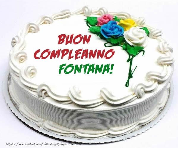 Cartoline di compleanno - Buon Compleanno Fontana!