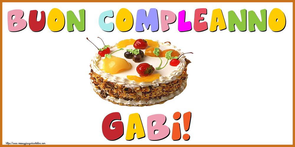 Cartoline di compleanno - Buon Compleanno Gabi!