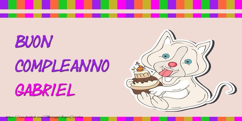Bien-aimé Tanti auguri Gabriel! - Cartoline di compleanno per Gabriel  TT41
