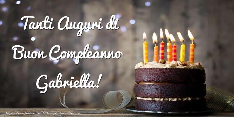 Cartoline di compleanno - Tanti Auguri di Buon Compleanno Gabriella!