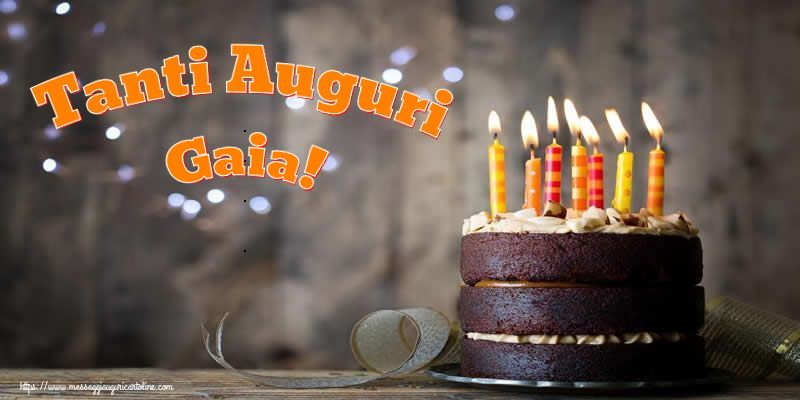 Cartoline di compleanno - Tanti Auguri Gaia!