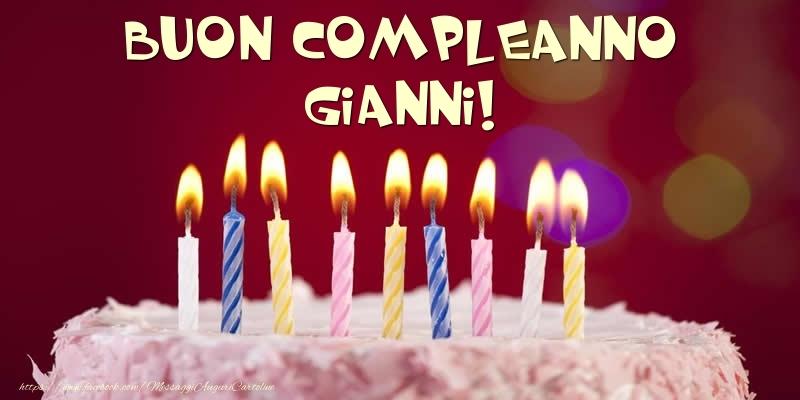 Cartoline di compleanno - Torta - Buon compleanno, Gianni!