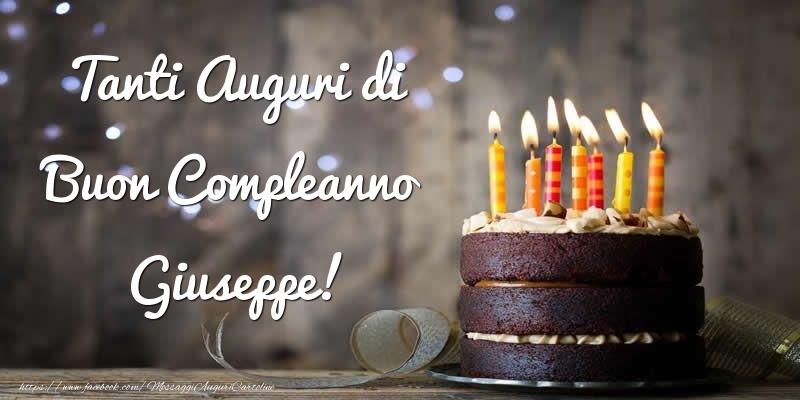 Cartoline di compleanno - Tanti Auguri di Buon Compleanno Giuseppe!