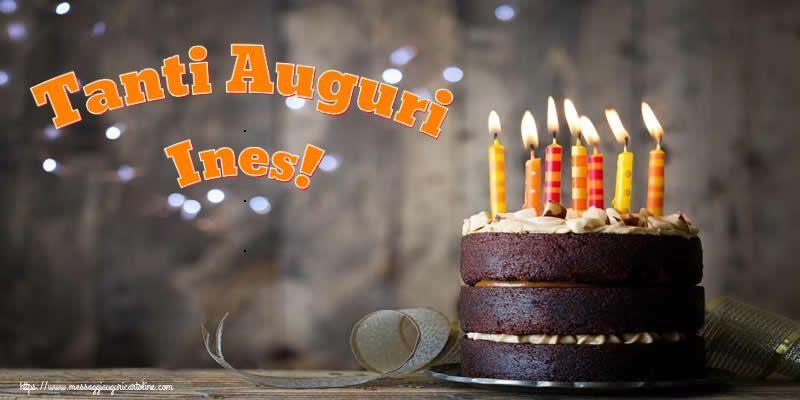 Cartoline di compleanno - Tanti Auguri Ines!