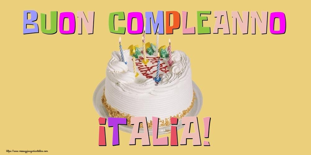 Cartoline di compleanno - Buon Compleanno Italia!