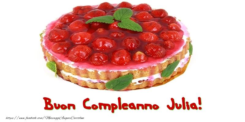 Cartoline di compleanno - Buon Compleanno Julia!