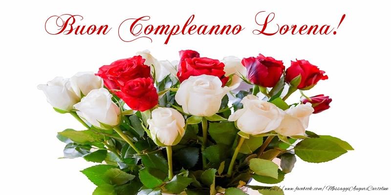 Top Tanti auguri di Buon Compleanno Lorena - Cartoline di compleanno  ZD99