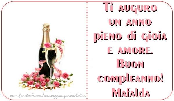 Super Tanti auguri di Buon Compleanno Mafalda - Cartoline di compleanno  UY58