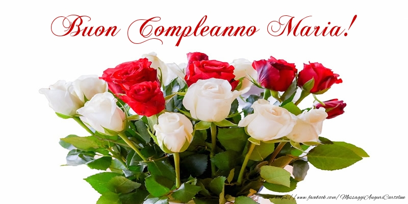 Favoloso Tanti auguri di Buon Compleanno Maria! - Cartoline di compleanno  BW74