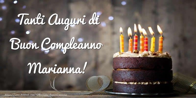 Cartoline di compleanno - Tanti Auguri di Buon Compleanno Marianna!