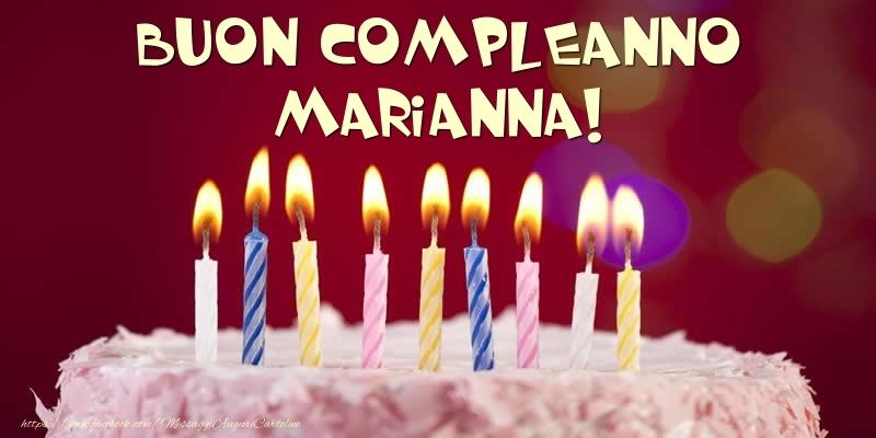 Cartoline di compleanno - Torta - Buon compleanno, Marianna!