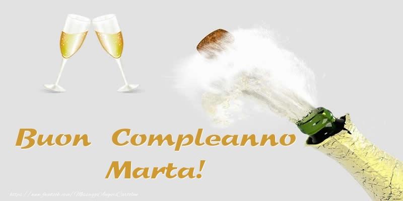 Cartoline di compleanno - Buon Compleanno Marta!