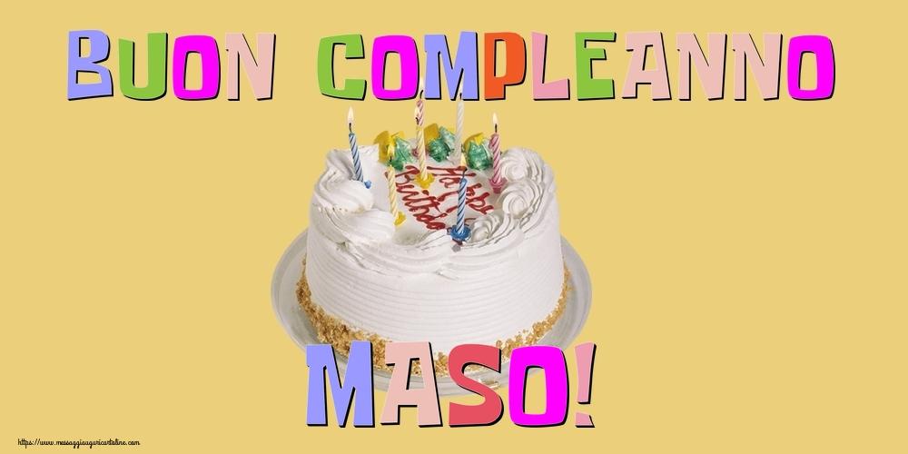 Cartoline di compleanno - Buon Compleanno Maso!