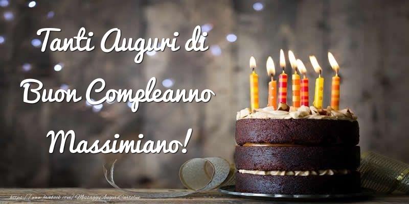 Cartoline di compleanno - Tanti Auguri di Buon Compleanno Massimiano!