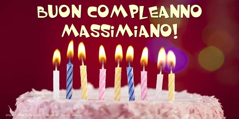 Cartoline di compleanno - Torta - Buon compleanno, Massimiano!