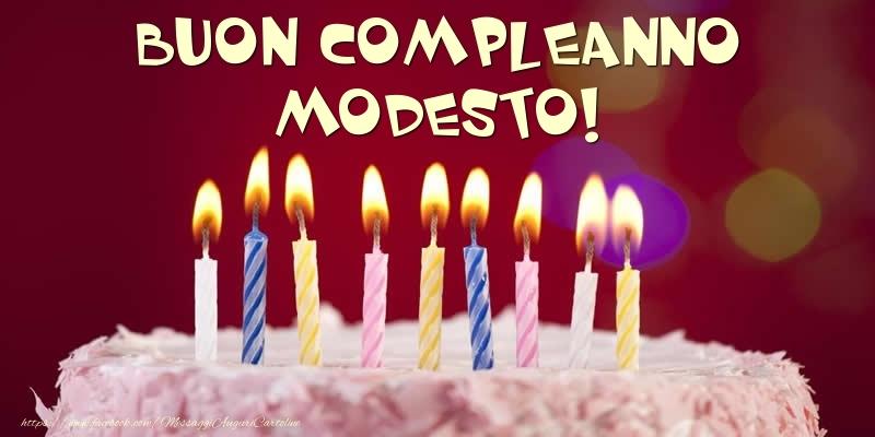 Cartoline di compleanno - Torta - Buon compleanno, Modesto!