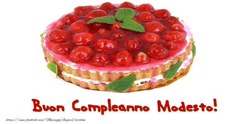 Cartoline di compleanno - Buon Compleanno Modesto!