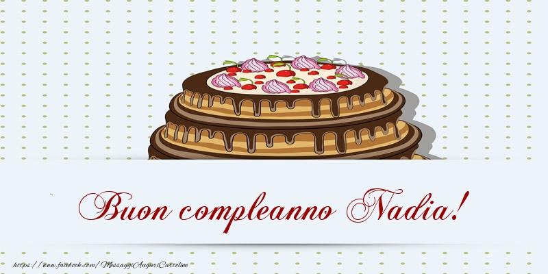 Molto Buon compleanno Nadia! Torta - Cartoline di compleanno per Nadia  FJ81