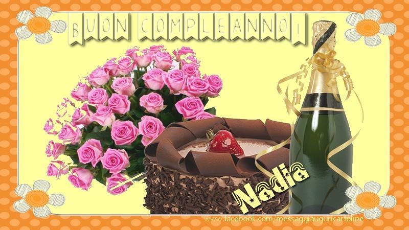 Molto Buon compleanno Nadia! Torta - Cartoline di compleanno per Nadia  IO27