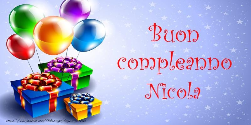 Favoloso Tanti Auguri di Buon Compleanno Nicola! - Cartoline di compleanno  VK36