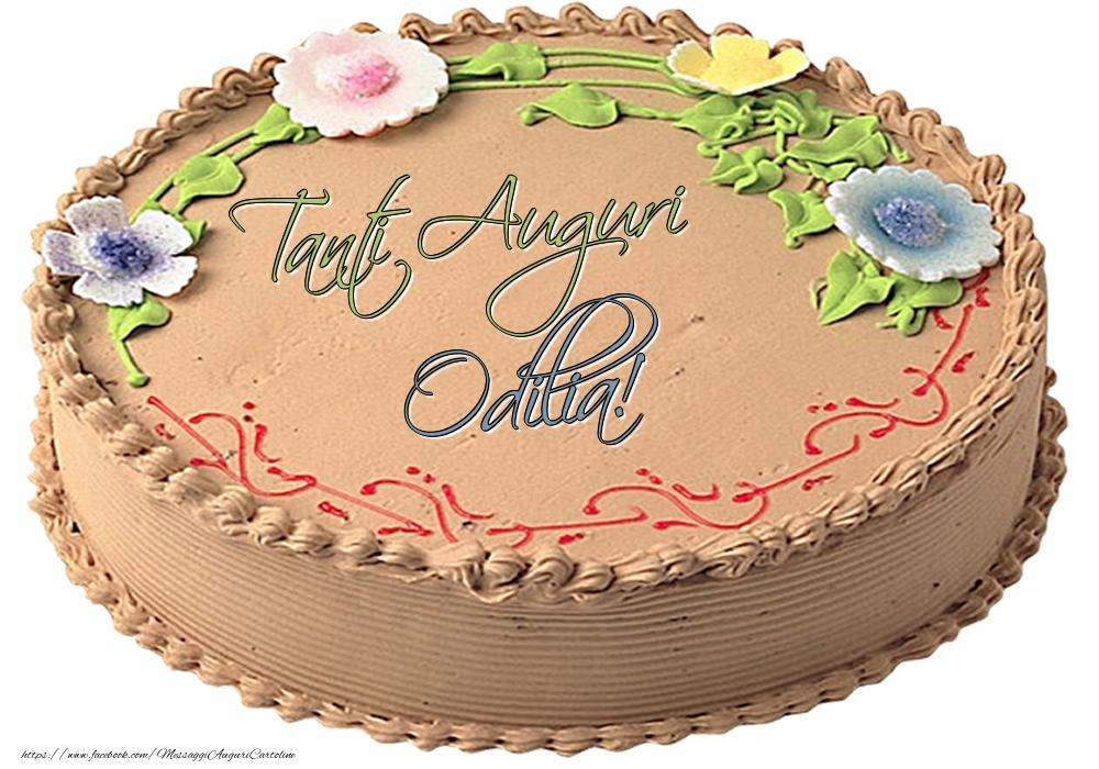 Cartoline di compleanno - Odilia - Tanti Auguri! - Torta