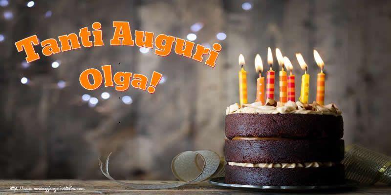 Cartoline di compleanno - Tanti Auguri Olga!
