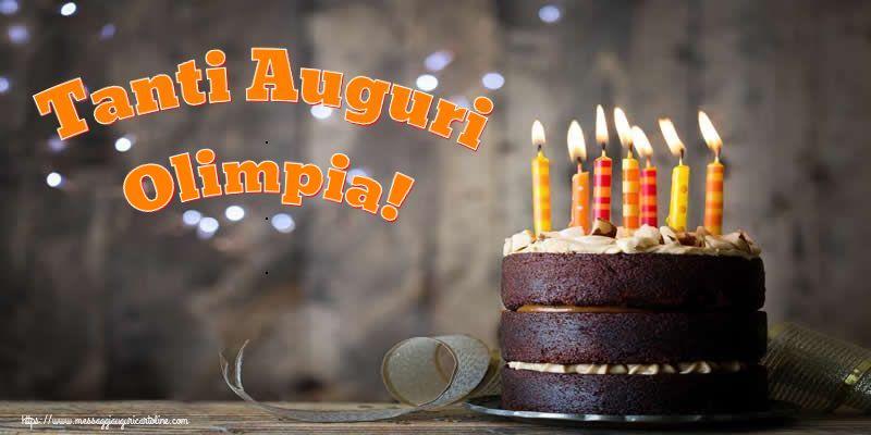 Cartoline di compleanno - Tanti Auguri Olimpia!