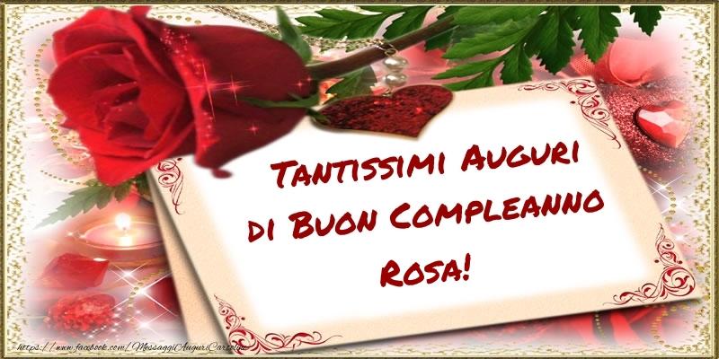 Favorito Tanti Auguri Rosa! - Cartoline di compleanno per Rosa FT05
