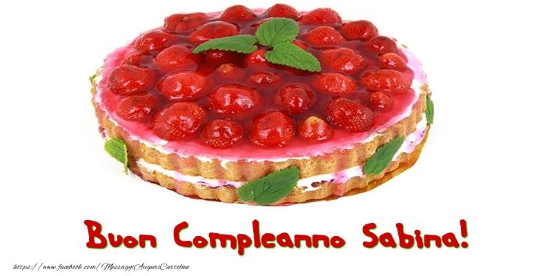 Cartoline di compleanno - Buon Compleanno Sabina!