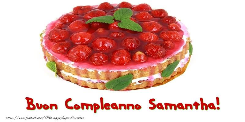 Cartoline di compleanno - Buon Compleanno Samantha!