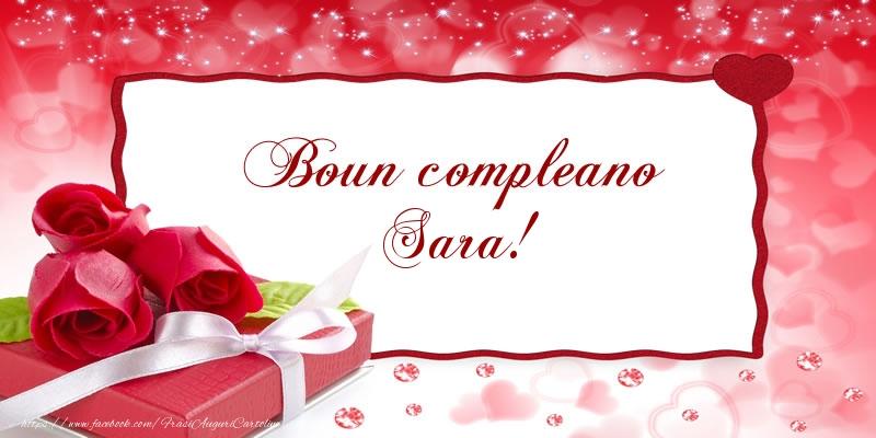 Favori Boun compleano Sara! - Cartoline di compleanno per Sara  NB07