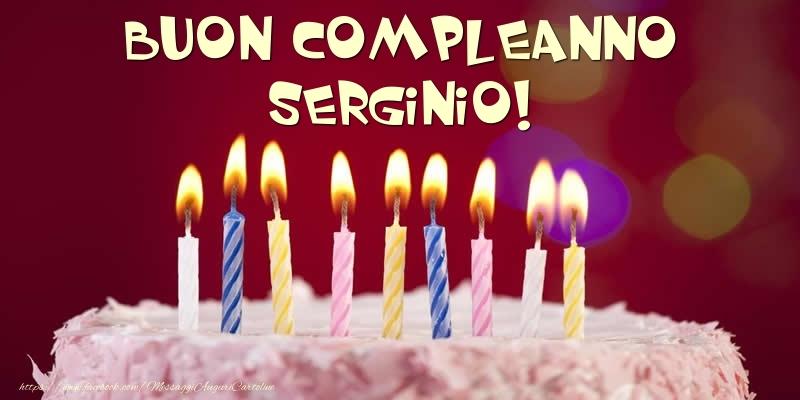 Cartoline di compleanno - Torta - Buon compleanno, Serginio!