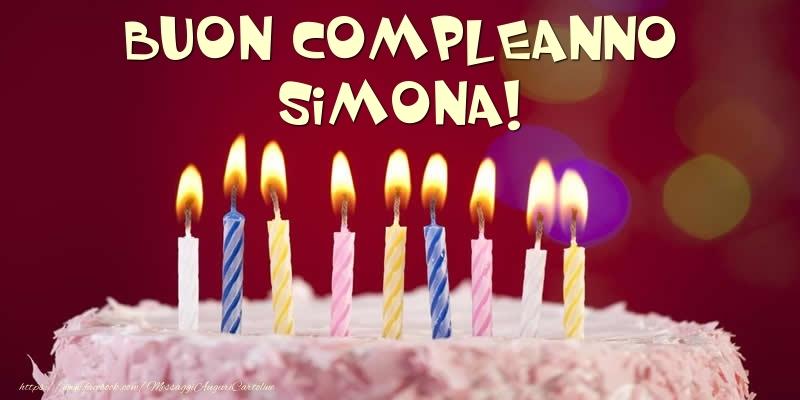 Cartoline di compleanno - Torta - Buon compleanno, Simona!