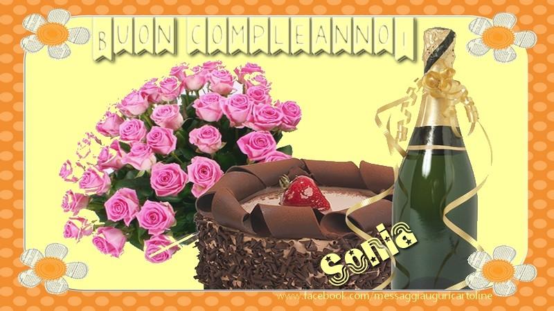 Conosciuto Tantissimi auguri di buon compleanno, Sonia - Cartoline di  XF38