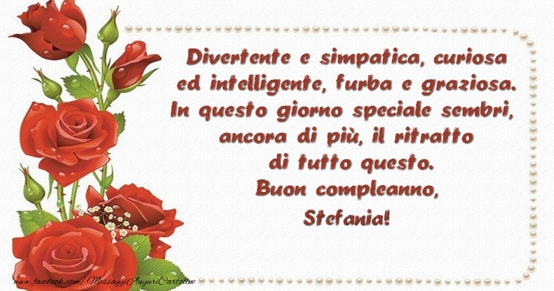 Buon Compleanno Stefania Divertenti