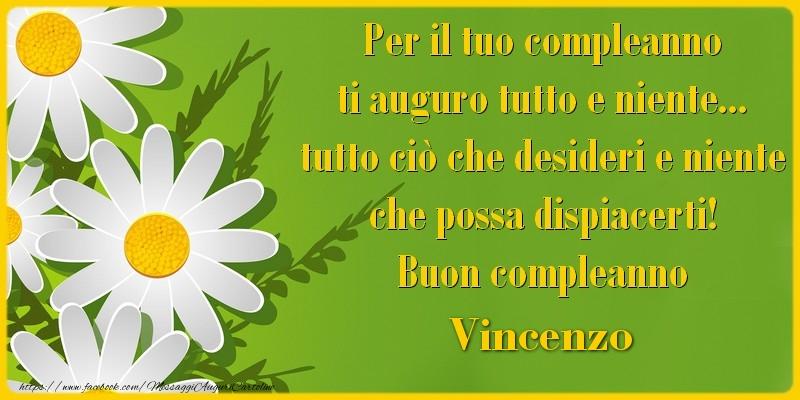 Eccezionale Tanti Auguri di Buon Compleanno Vincenzo! - Cartoline di  WW22