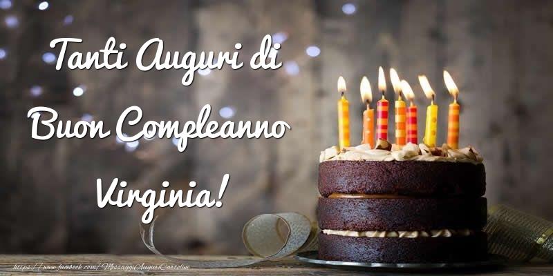 Cartoline di compleanno - Tanti Auguri di Buon Compleanno Virginia!