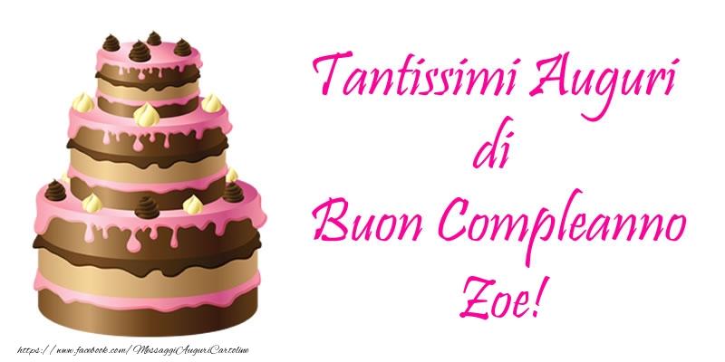 Preferenza Torta - Tantissimi Auguri di Buon Compleanno Zoe! - Cartoline di  JM31